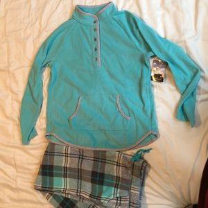NWT Cuddl Duds fleece pajamas/loungewear set sz M